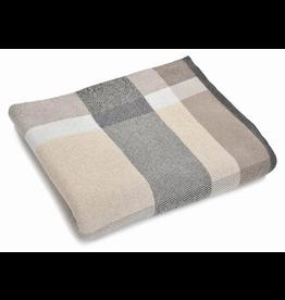 "Merben Beige plaid cotton pillow 20"" x 20"""