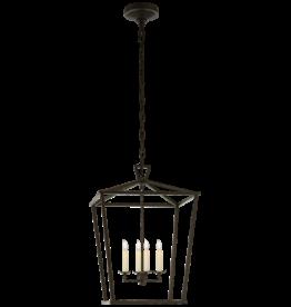 Visual Comfort Darlana Medium Lantern in Aged Iron