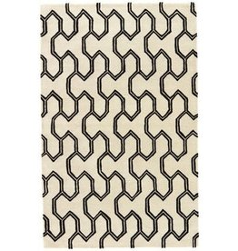Jaipur Jaipur Black And White Geometric Rug 5X8