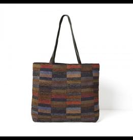 Wallace Sewell Kandinsky Bag Dark-Wool-Cotton