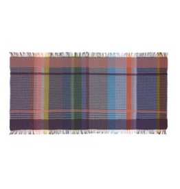 Wallace Sewell Millicent Basket Blue Purple Lambswool Throw