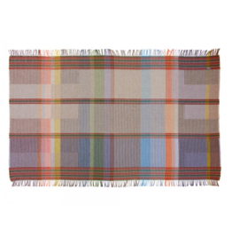 Wallace Sewell Wollstonecraft Pinstripe Pale Lambswool Throw