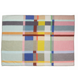 Wallace Sewell Lloyd  Block Mint and Pink Lambswool Throw