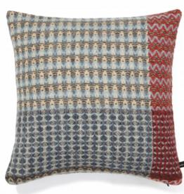Wallace Sewell Zion Ripple BLue Shetland Wool Cushion