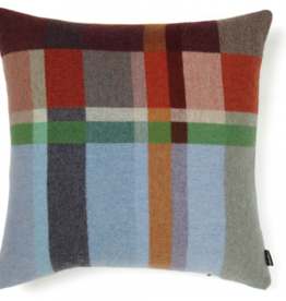 Wallace Sewell Feilden Block Blue Lambswool Cushion