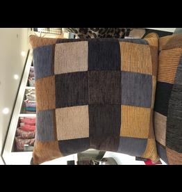 Wallace Sewell Kandinsky Brown Sand 50/50 Wool Cotton Cushion