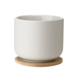 Stelton Stelton Theo Cup with Coaster Sand