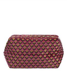 Designer's Guild Portland raspberry medium washbag