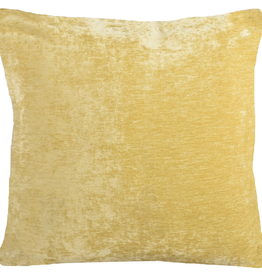 Brandon Yellow Chenille  Cushion 22x22