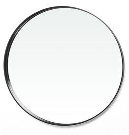 "Bonavista Mora Large Round Mirror 47"" Black"