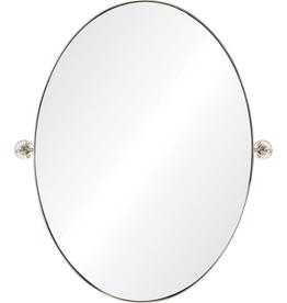 "renwill Azalea Polished - Nickel Plated Finish Mirror 26"" X 30"""