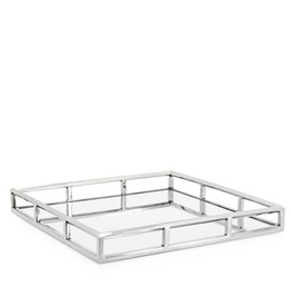 Torre & Tagus Lux Angle Edge Square Tray 16X16