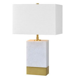 renwill Lucent White Marble Table Lamp