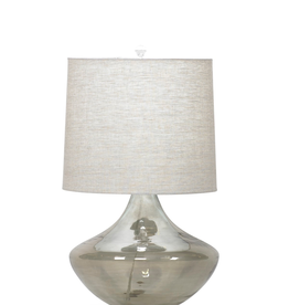 Flow Decor Cabernet Table Lamp - Off White Linen Shade