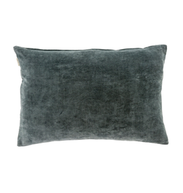 Indaba 16x24 Vera Velvet Pillow Steel Gray