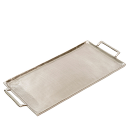 Indaba Silver Metal Coffee Table Tray Medium