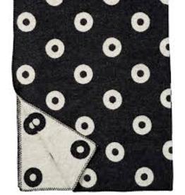 Klippan Rings blanket black 60% merino wool & 40% lamb's wool