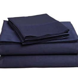 Cuddle Down Impressions Solid Flat Sheet, King #49 MARINE