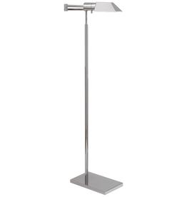Visual Comfort Studio Swing Arm Floor Lamp-Polished Nickel