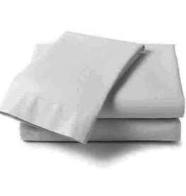 Cuddle Down Percale Deluxe Sheet, King Fitted, #10 White