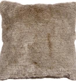 Pillow Decor Tundra Hare Faux Fur Cushion 21x21