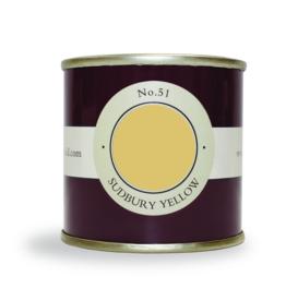 Farrow and Ball 100ml Sample Pot Sudbury Yellow No. 51