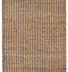 "Dash & Albert Gridwork Black Woven Jute Rug 2'6"" X 8'"