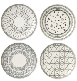WWRD ED Charcoal Grey Accent Plates Set of 4