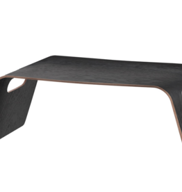 Torre & Tagus Kento Curved Wooden Breakfast Tray Black