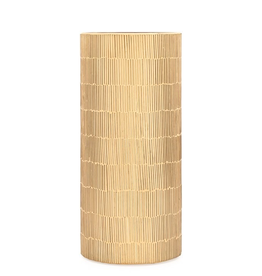 "Torre & Tagus Bamboo Glass Mosaic 4d x 9""Cylinder Vase - Gold"