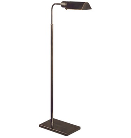 Visual Comfort Studio Swing Arm Floor Lamp in Hand-Rubbed Bronze