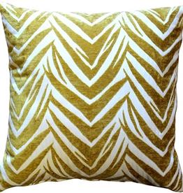 Pillow Decor Samba Yellow 20x20 Throw Pillowwith Feather Filler