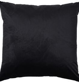 renwill Marjorie Black Velvet Cushion 24x24