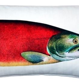 Pillow Decor Salmon Outdoor Fish Pillow <br /> 12 x 20