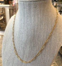 Zephoria Designs Gold Paperclip Necklace