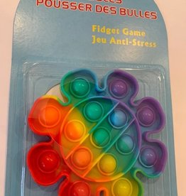 CLS Imports Rainbow Flower Push Bubbles