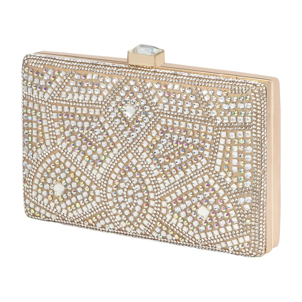 Hb-Reese-3 Rhinestone Handbag - GLITTER FASHION