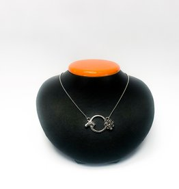 Michel McNabb Jewelry Michel McNabb Sterling Silver Horse Head & Flower Pendant Necklace