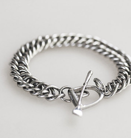 Michel McNabb Sterling Silver Curb Chain Bracelet