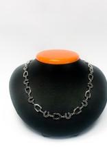 Michel McNabb Sterling Silver Rock Stirrup Necklace