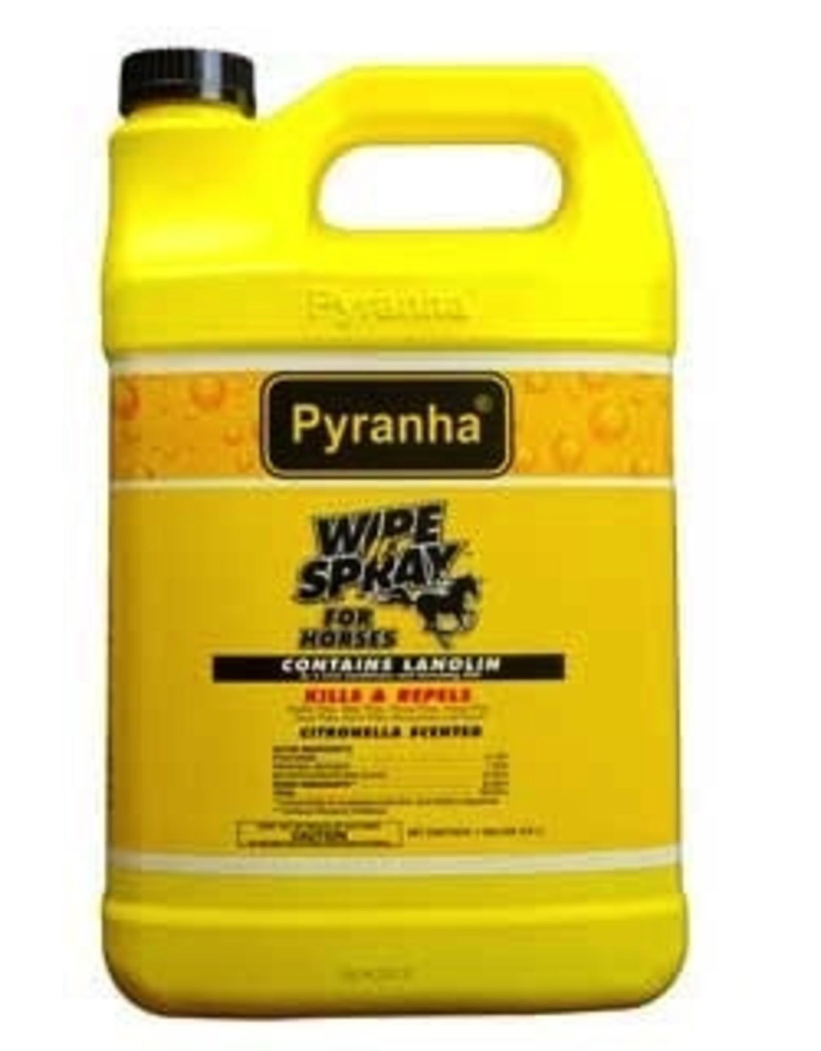 Pyranha Wipe N Spray Fly Repellent - Gallon