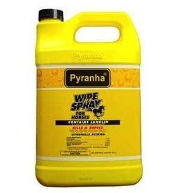 Pyranha Wipe N Spray Fly Repellent - Gallon