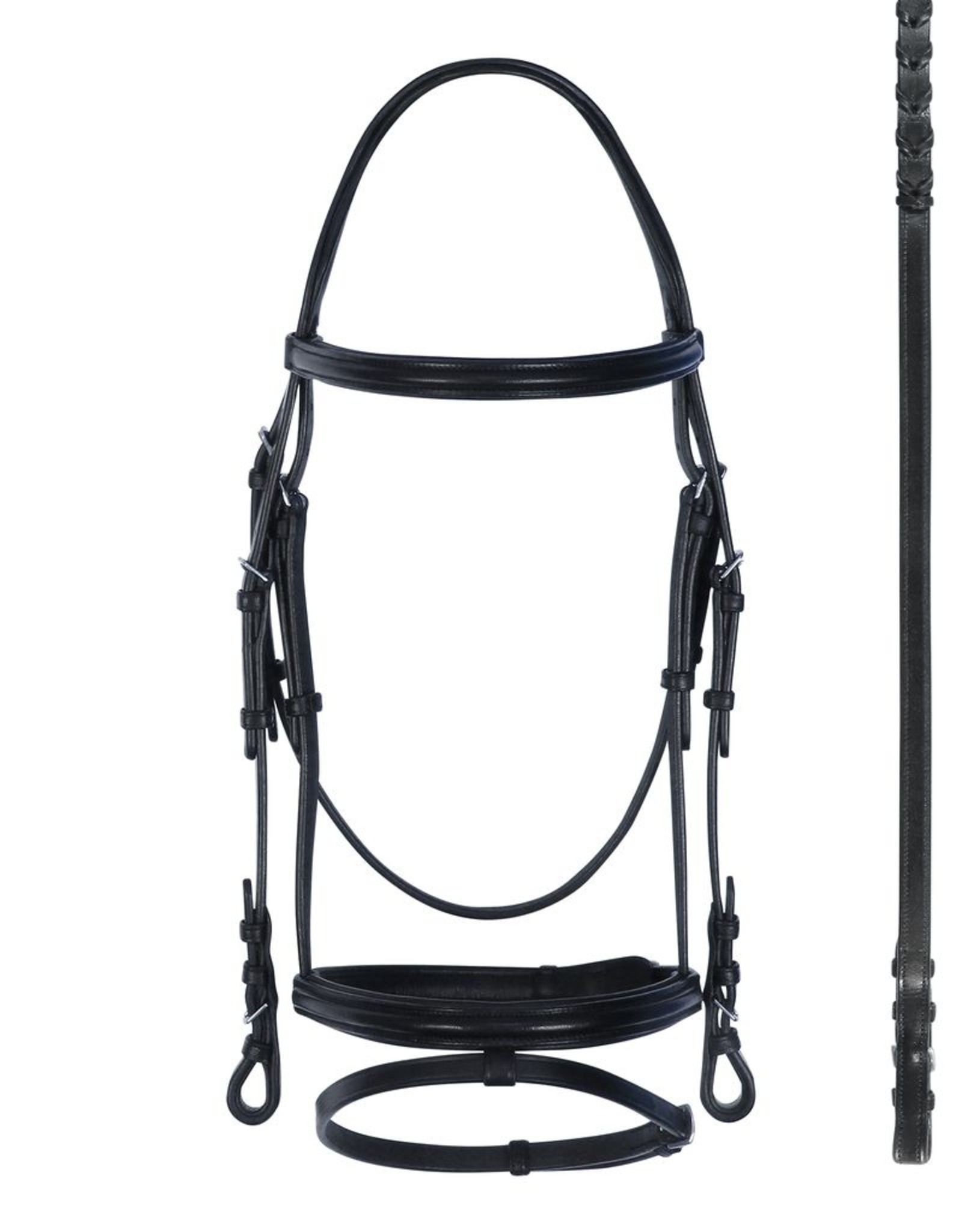 Bobby's English Tack Padded with Flash Snaffle Dressage Bridle
