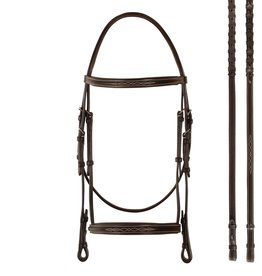Bobby's English Tack Fancy Raised Padded Bridle