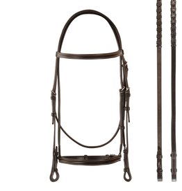 Bobby's English Tack Plain Raised Bridle