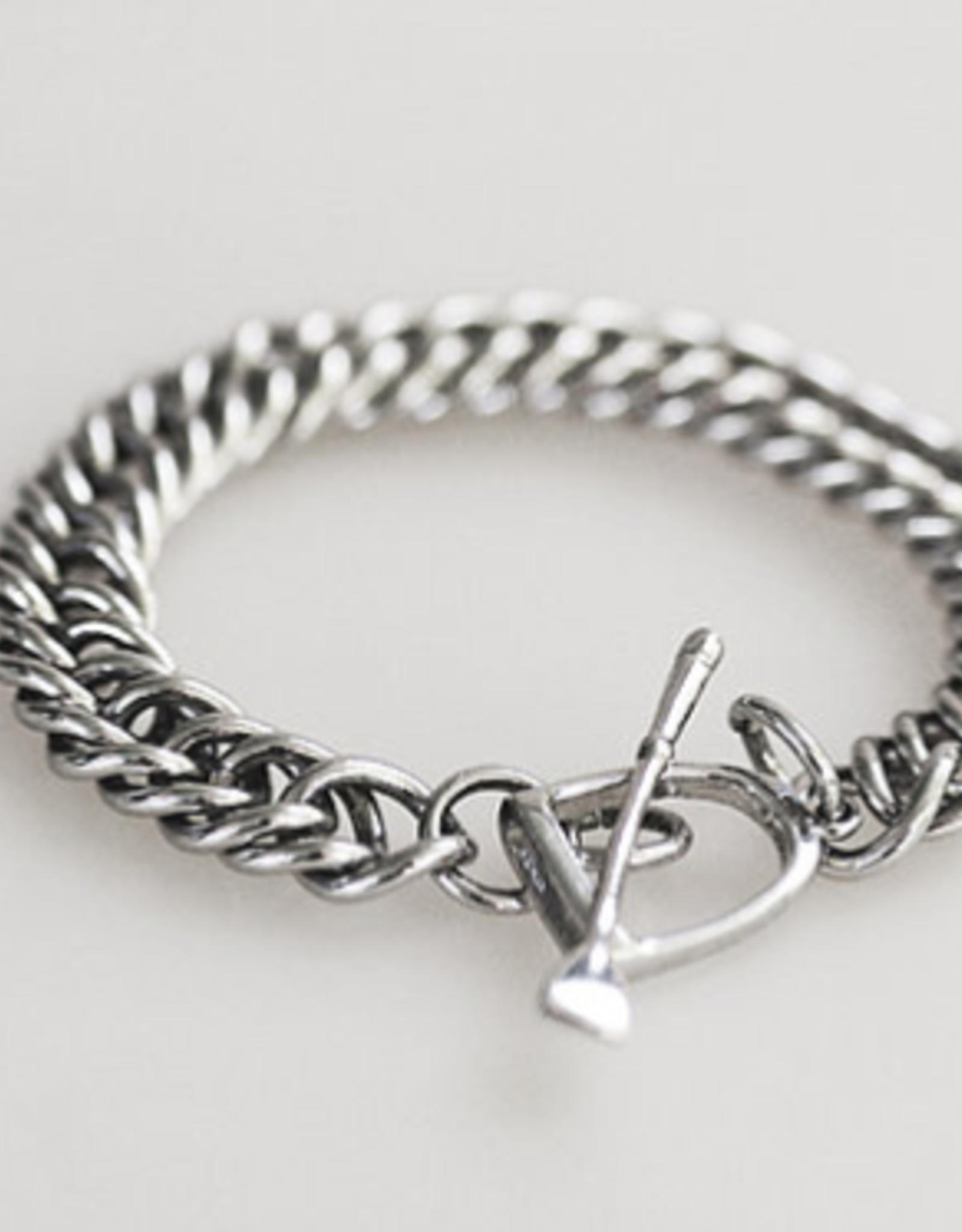 Michel McNabb Sterling Silver Curb Chain Bracelet