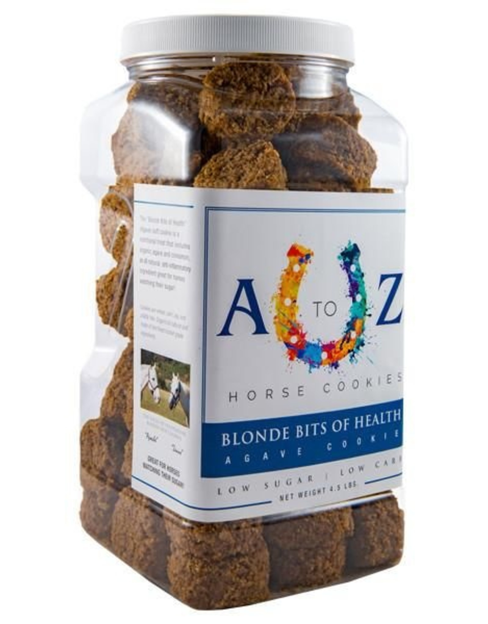 A TO Z A TO Z Horse Cookies - Blonde Bits of Health - 4.5lb Jar
