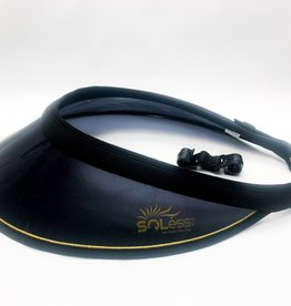 Soless Soless Helmet Visor Black with Gold Piping
