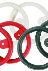 Rubber Peacock Rings with Tab - Black