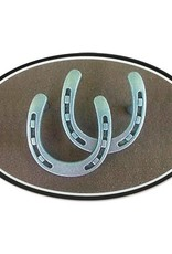 Euro Double Horseshoe Decal